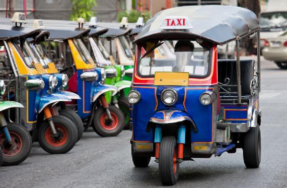A Tuk Tuk taxi in Thailand